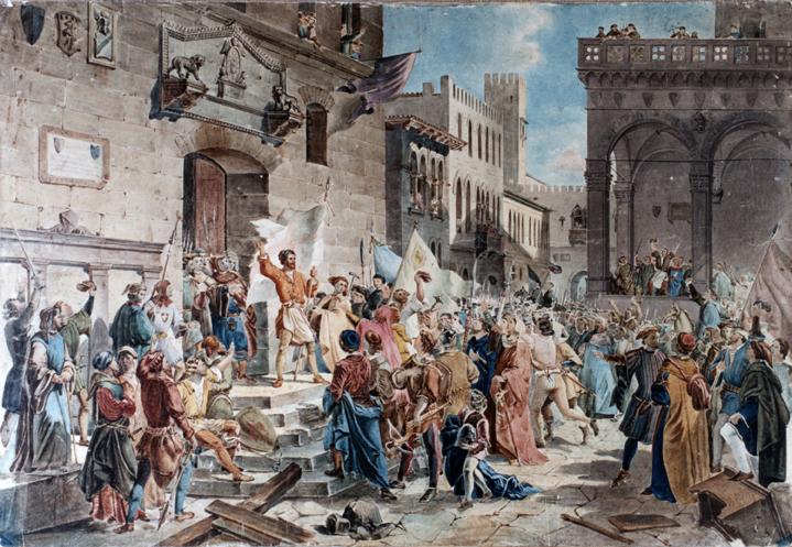 La festa dei lavoratori a firenze ha settecento anni for Firenze medievale