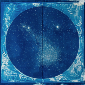 Lia Halloran, The Magellanic Cloud, cyanotype, 2016