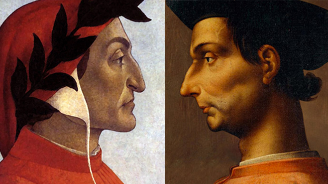 dante and machiavelli Although machiavelli was forced into what turned into an early retirement from florence, by changes in its government, he remained quite active in.