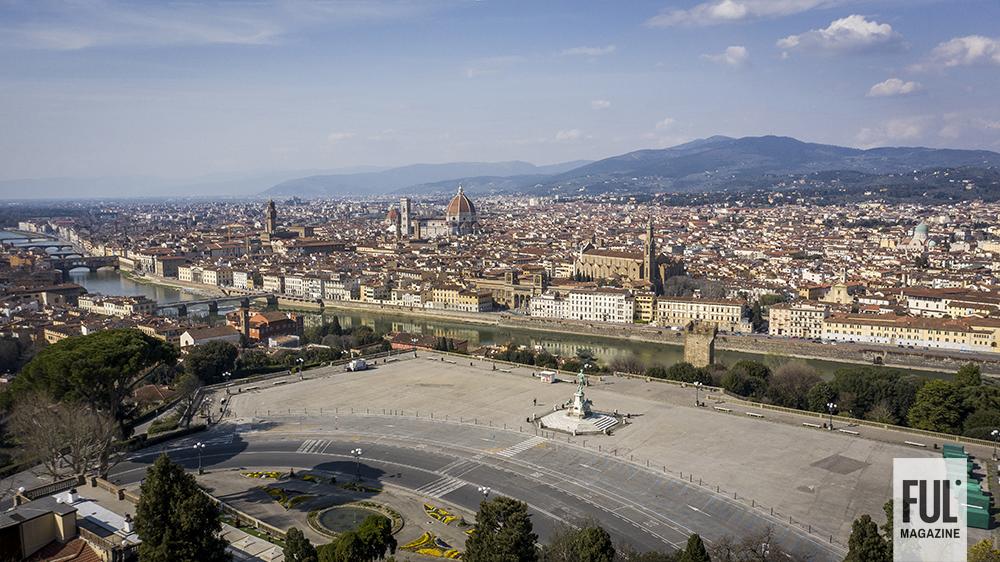 Firenze vista dall'alto ai tempi del coronavirus