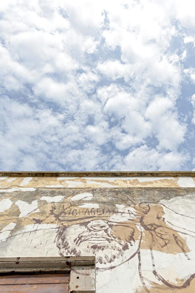 murales ligama in lavorazione