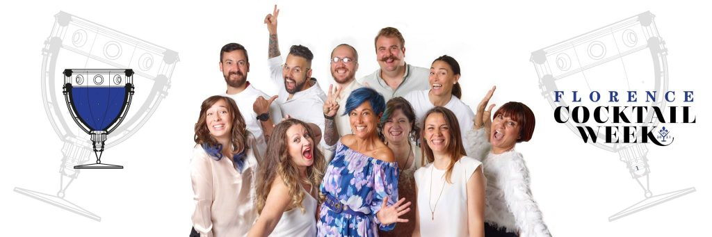 Paola Mencarelli e lo staff della Florence Cocktail Week